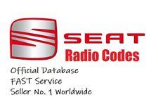 SEAT RADIO CODE UNLOCK CODE | ALL MODELS RNS & RCD Fast SERVICE