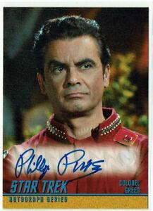 Star Trek TOS Original Series Season 2 Autograph A83 Phillip Pine Colonel Green