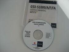 Suzuki GSX-s 1000 + ABS à partir de l5 réparation cd manuel atelier service Manual Neuf