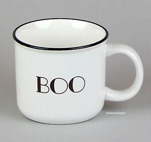 Threshold BOO: One 14 oz. Mug, MINT UNUSED Condition! Black & White Halloween