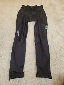 +Gore Bike Wear men's padded cycling pants soft-shell wind stopper XL black