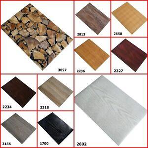 Self Adhesive Stylish Wood Grain Design A4 Sheet Sticky Back Craft DC FIX Vinyl