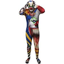 Adult Unisex Scary Clown Circus Horror Halloween Fancy Dress Costume Morphsuit Extra Large