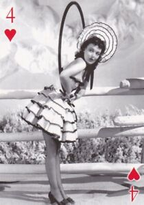 "KAY  BOOTH - 2007 "" world  WAR II "" glamour girls "" PIN-UP playing  card"
