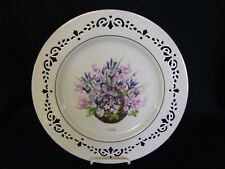 1996 Lenox Colonial Bouquet Floral Flower Plate Massachusetts No Box W/Tag