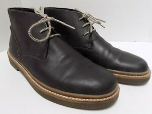Clarks Mens Ankle Boots Lace Up Black Leather Size 9.5