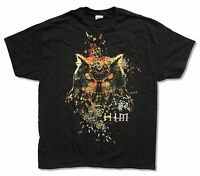 "HIM H.I.M. ""OWL TOUR 2014"" BLACK T-SHIRT NEW OFFICIAL ADULT BAND MUSIC CONCERT"
