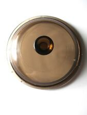 "Pyrex Replacement Lid Amber V -1 -C-B Inner Rim 6 3/8"" Outer 6 7/8"""