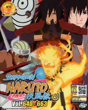Naruto DVD Boxset 22- Naruto Shippuden Vol. 640-663 (Japanese Version) US Seller