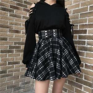 Punk Cat Gothic Sweatshirt Harajuku Lace Up Clothing Women Girl Hoodie Black