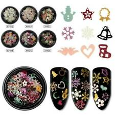 Christmas Snowflake Nail Sequins Flakes Holographic Nail Art-Glitter Decors Tips