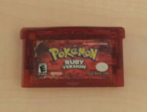 Pokémon: Ruby Version (Game Boy Advance, 2003) GBA GAME AUTHENTIC BAD BATTERY