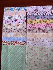 40 x 5' CHARM SQUARES 2 X20 Dainty Flowers 100% Cotton Fabric Sewing Material N6