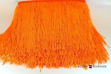 "1 yard 12"" Orange Chainette Fringe Dance Costume Lamp Trim"