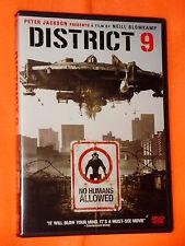 LIKE NEW District 9 WIDESCREEN DVD PETER JACKSON Neill Blomkamp QUICK SHIPPER