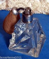 ANCIEN FLACON DE PARFUM EN CRISTAL ART DECO ANTIQUE PERFUME BOTTLE CRYSTAL