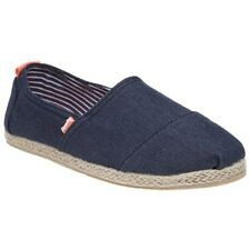 Superdry Jetstream Espadrille - Dark Navy Denim Womens PUMPS 4 UK