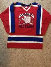VTG Alaska All Stars Hockey Association Jersey Mens M Rare 80s Grizzly Bear NHL