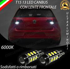LAMPADE RETROMARCIA 13 LED T15 W16W CANBUS PER VW GOLF 7 VII 6000K NO AVARIA