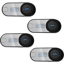TCOM-SC Intercom Headset W /Bildschirm Bluetooth Motorrad Helm Funkgeräte 4 Sets