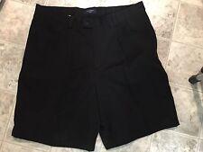 DOCKERS Mens Black Walking Single Pleated  Shorts Size 36 W NWOT