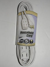 Coleman Cable 09414 16/2 SPT-2 3-Outlet Cube Tap Extension Cord with Safety 15'