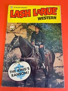 LASH LARUE WESTERN #  27  (1952 FAWCETT ) PHOTO COVER- WESTERN MOVIE COMIC BOOK