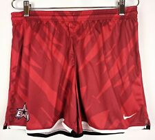 Nike Workout Shorts Womens Size Medium E Star 120 Soccer Lacrosse Red No Pockets