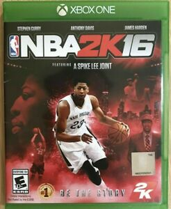 NBA 2K16 (Microsoft Xbox One, 2015) GAME COMPLETE w/INSERT BASKETBALL SPIKE LEE