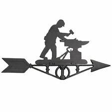 More details for blacksmith weather vane vain ridge mount house roof cast iron workshop anvil