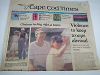 CAPE COD TIMES MA NEWSPAPER Aug. 28 1993 THE CLINTON'S ON MARTHA'S VINEYARD