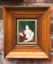 1818 English  Miniature Portrait Of A Lady. Attributed Lorenzo Theweneti. Signed