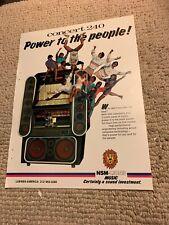 11- 8 1/4� Nsm Jukebox Concerto 240 1986. arcade game Ad Flyer