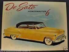 1953 DeSoto Powermaster 6 Sales Brochure Folder Export Market Nice Original 53