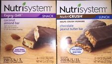 4 Bars Nutrisystem Coconut Almond And 5 Chocolate Peanut Butter Total (9bars)