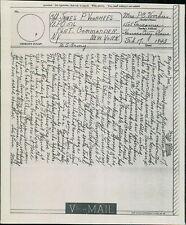 Mrs P C Vorhees. 1505 Tauromee av, Kansas City. 1943 - James P Vorhees JE.1346