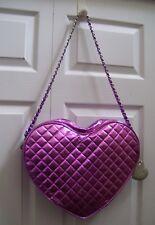 Justin Bieber Women's PURSE Purple Heart Shaped Shoulder Bag Valentine Gift