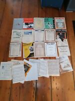 LARGE VINTAGE SHEET MUSIC LOT 100'S OF PAGES SOME COPIED PAGES SM14-2