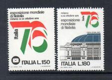 ITALY MNH 1976 SG1471-1472 ITALIA 76 INT STAMP EXHB