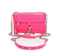 a82cd1c39d7f Новый с ценниками Rebecca Minkoff Mini MAC кожаная сумка через плечо  электрический розовый $195+ authentc