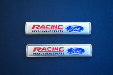 2Pcs Auto Car Emblem Badge Sticker Decal Silver for Ford Racing Focus Mustang