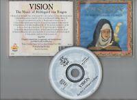 VISION THE MUSIC OF Hildegard von Bingen ~17 TRACK CD~ ***FREE P&P***