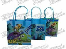 Disney Monsters University Party Favor Supplies Goody Loot Gift Bags [12ct]