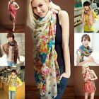 Women's Pashmina Soft cotton Linen Wrap Shawl Long Voile Stole Scarf 20Colors