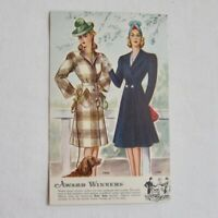 Betty Rose Advertising Card Coats Fashion Styles Promotional Vintage