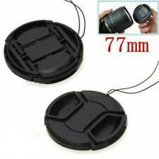 Black 77mm Front Lens Cap Hood Cover Snap on for Nikon Canon Tamron Tokina Sigma