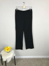 Anne Klein Woman Casual Career Pant Flat Stretch Flare Pockets Black Sz 2 L32