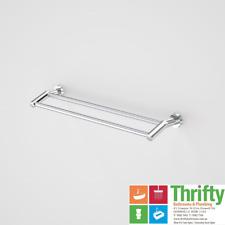 Caroma Cosmo Metal Double Towel Rail 600mm Chrome 306129C