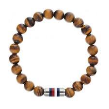 Tommy Hilfiger Tigers Eye Bead Mens Bracelet 2790067