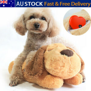 Puppy Toys Separation Anxiety Soft Plush Sleeping Aid Pet Toy Gift W/ Heartbeat